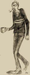 Tegning af Kurt Westergaard på hjemmesiden for Flemming Chr. Nielsen