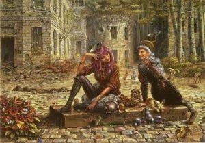 Otto Frellos maleri af to kvinder